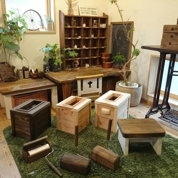木製のかっこいいDIYゴミ箱2