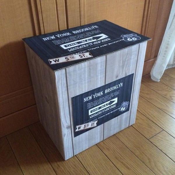 段ボールで作ったDIYゴミ箱2
