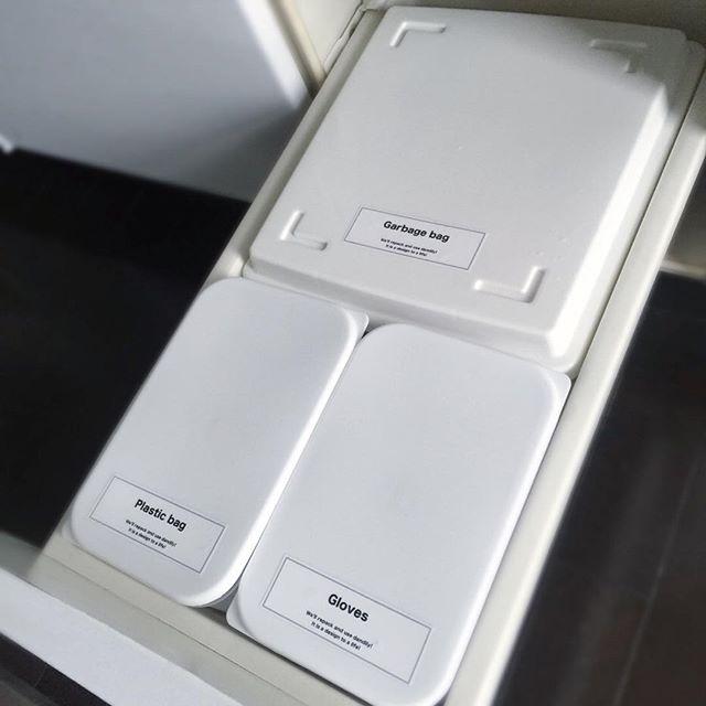 レジ袋収納 蓋付きボックス