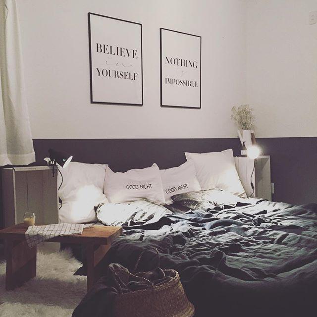 寝室インテリア シックなカラー