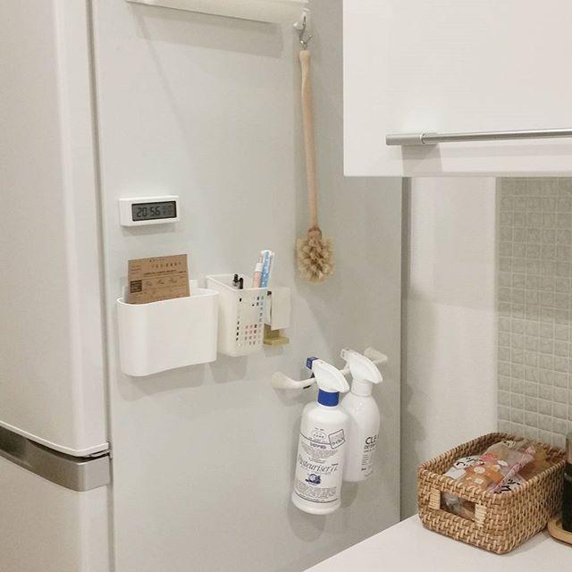 マグネット収納アイデア 冷蔵庫横
