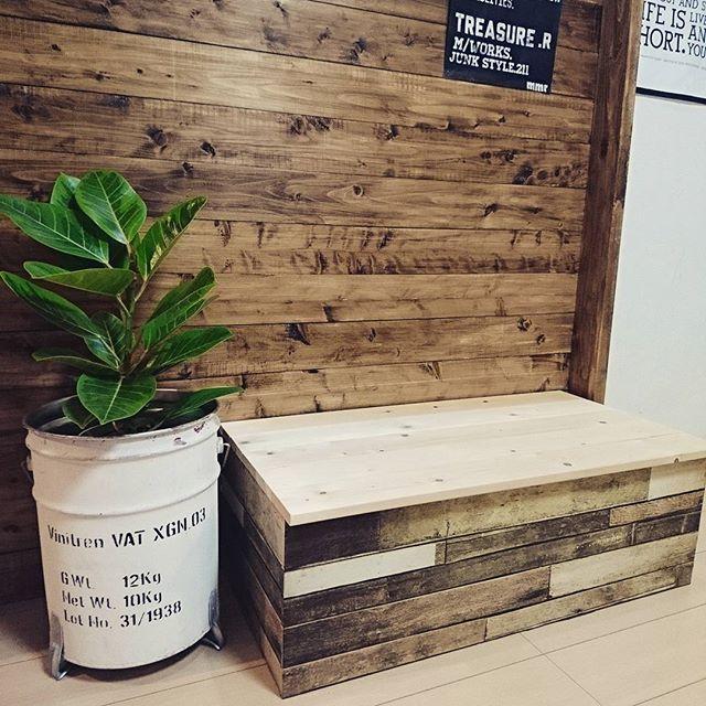 家具DIY カラーボックス ベンチ