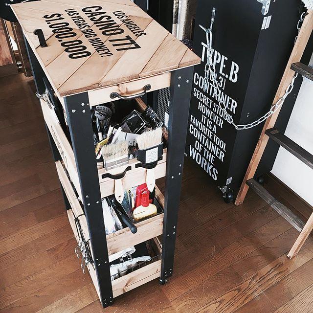 カラーボックス・木箱 リメイク2