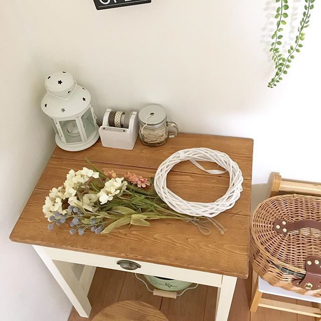 造花×グルーガンの使い方実例①リース2