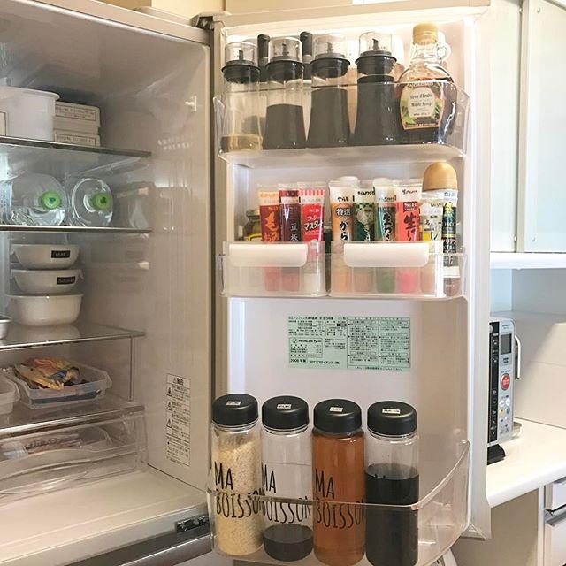 冷蔵庫の収納術 ドリンクボトル