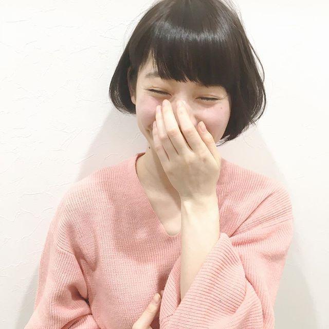 黒髪アシメワンレンショート