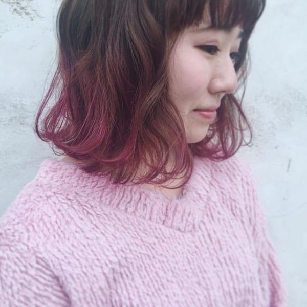【2019】流行のピンク系ヘアカラー14