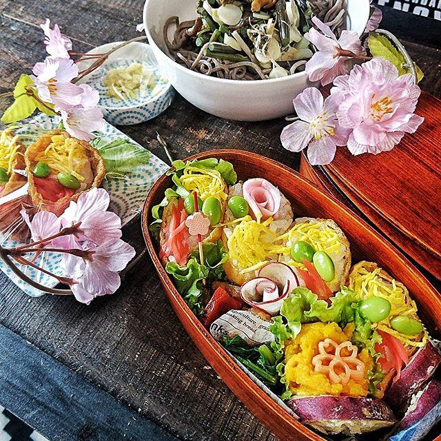 華やかなお花見弁当2