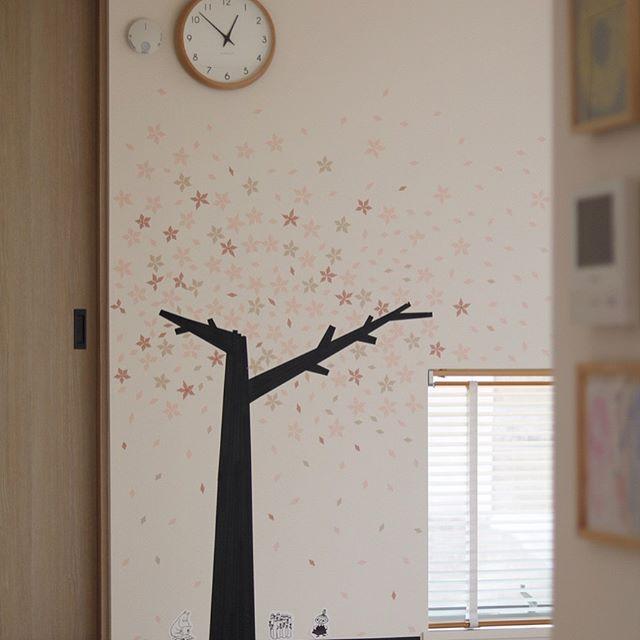 桜の木や花を使ってインテリアコーディネート7