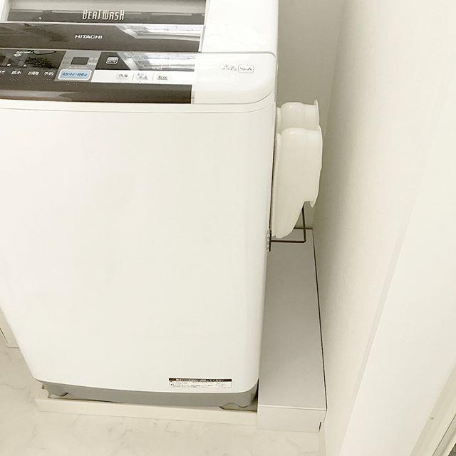 ランドリー収納 洗濯機横 セリア アイアンバー