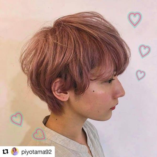 【2019】流行のピンク系ヘアカラー36