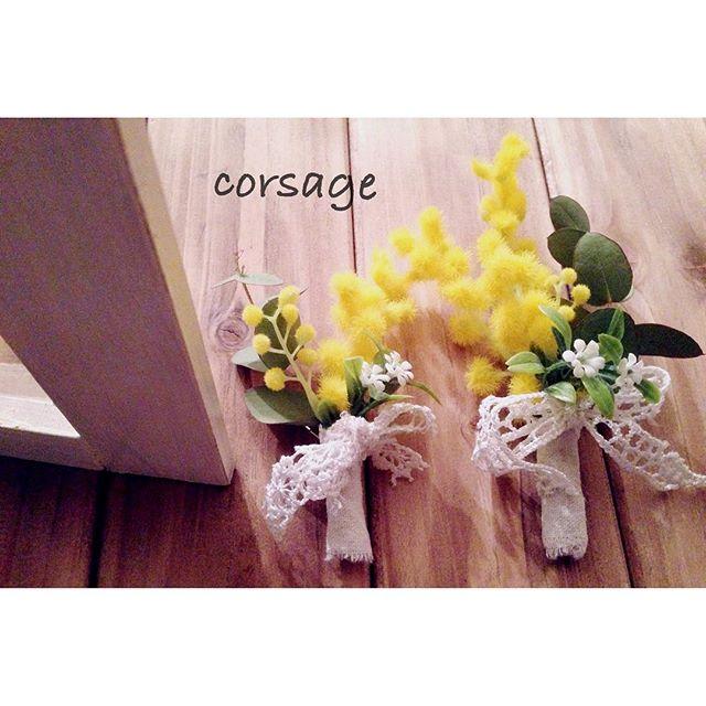 造花×グルーガンの使い方実例②コサージュ2