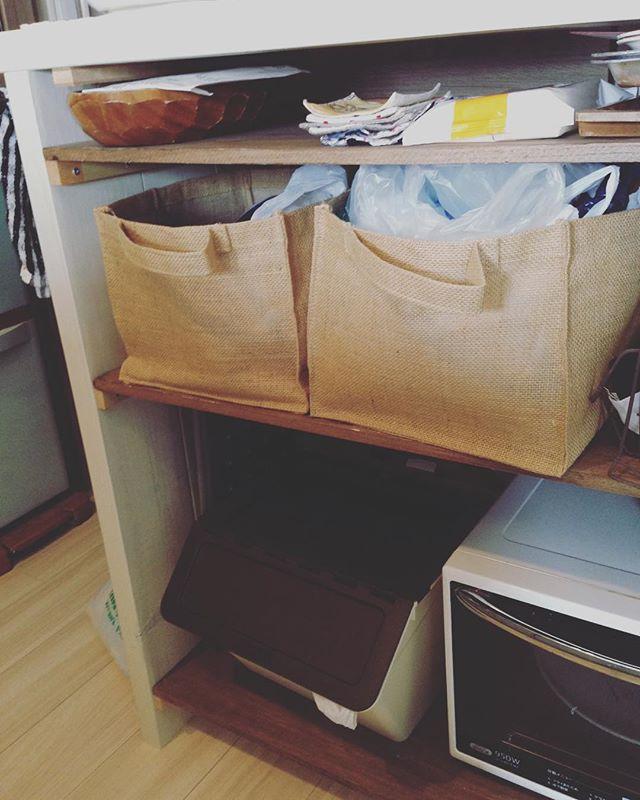 レジ袋収納 麻 バッグ