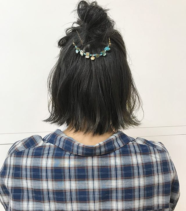 ハーフアップお団子15