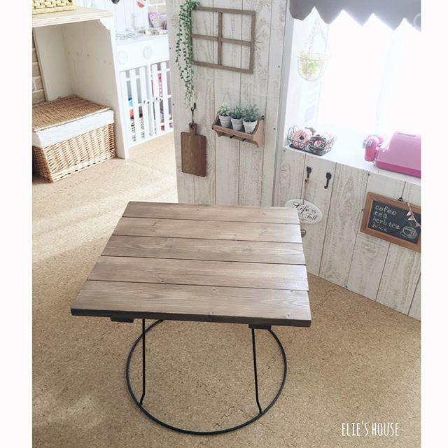 家具DIY テーブル 花台