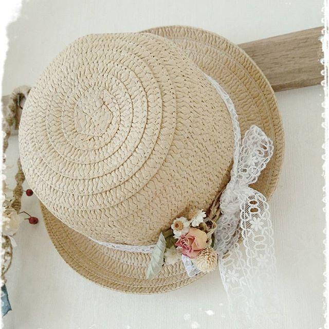 造花×グルーガンの使い方実例③帽子飾り