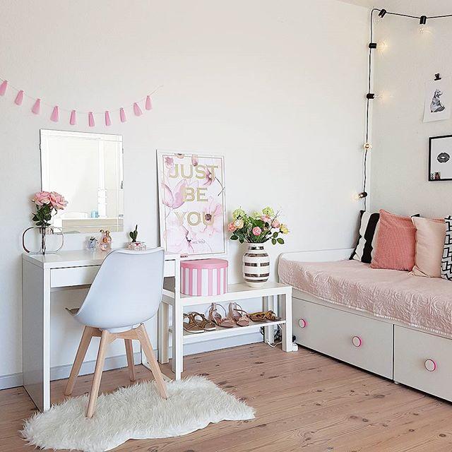 春インテリア 寝室 ピンク