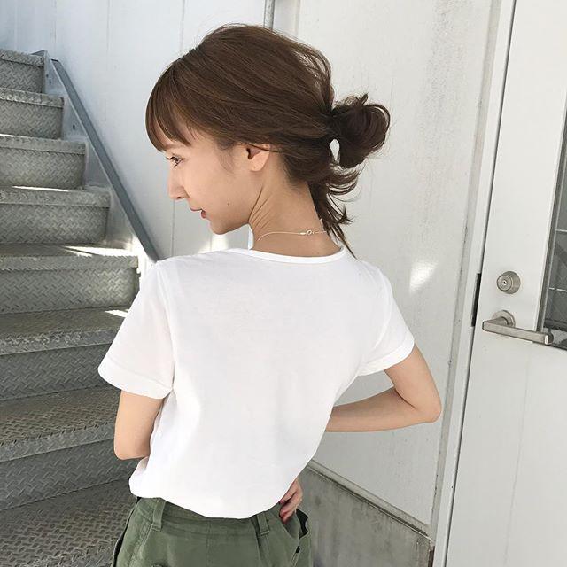 ハーフアップお団子7