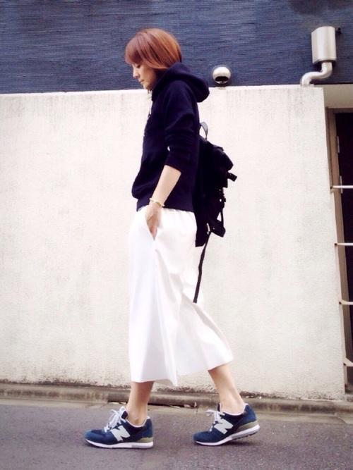 ニューバランス コーデ スカート5