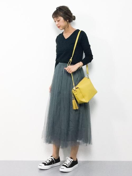 [coca] 選べる6カラー◆ふんわりチュールスカート2