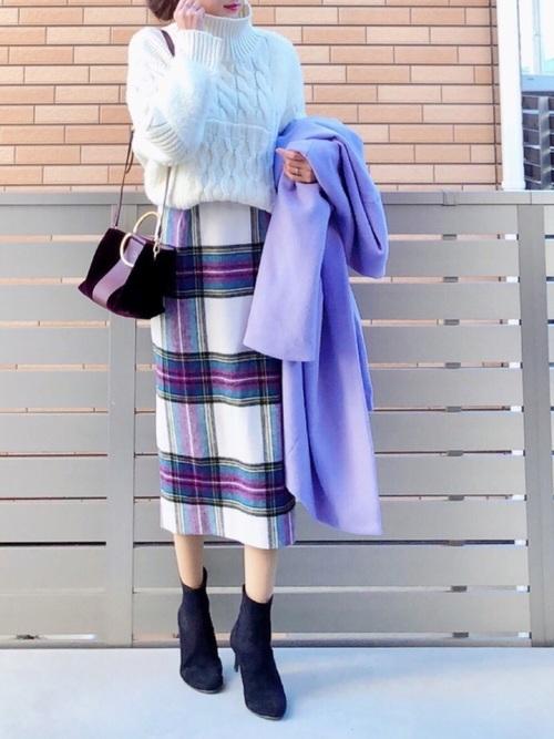 紫に合う色コーデ13