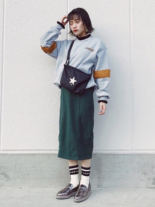 ローファーコーデ スカート7