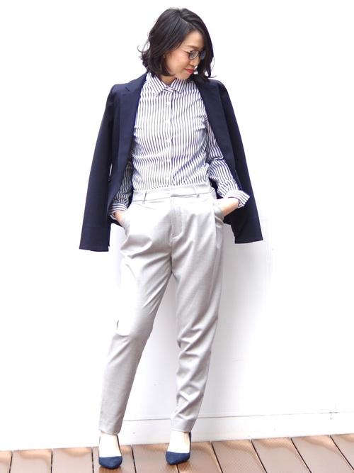 [NARACAMICIE] 【セットアップ対応】ポンチテーラードジャケット