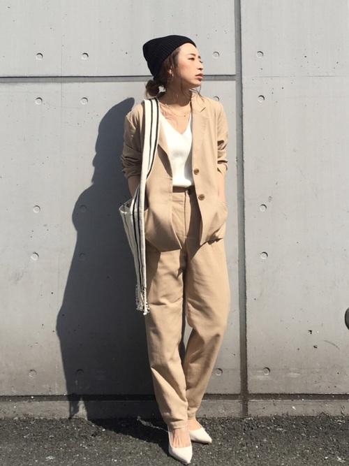 【2019春】シーン別レディースジャケット着こなし術:カジュアルコーデ12