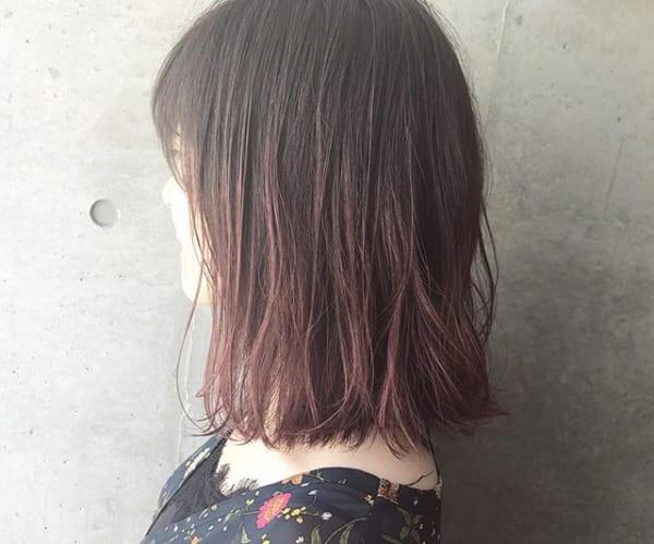 【2019】流行のピンク系ヘアカラー13