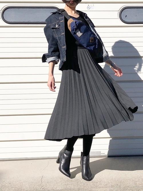 【ユニクロ】デニムジャケット×大人女子11