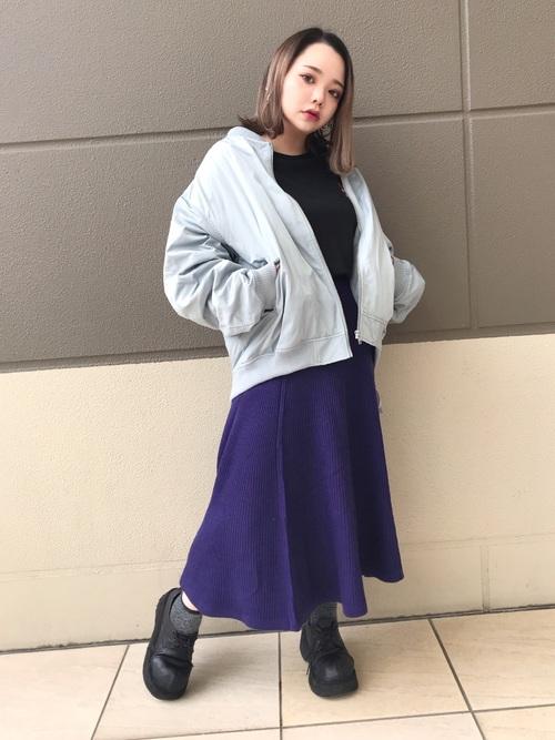 Aラインニットスカート