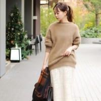 冬らしい白スカートの着こなし☆好感度抜群のスタイルを一挙にご紹介!