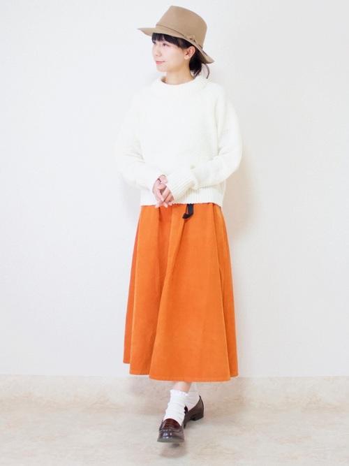 ローファーコーデ スカート5