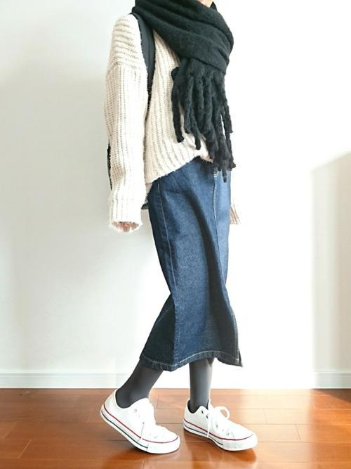 [CORNERS] 三つ編みフリンジマフラー