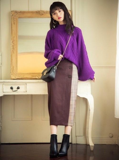 紫に合う色コーデ18
