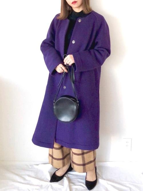 紫に合う色コーデ6