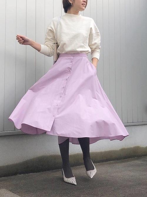 ユニクロ パープル スカート