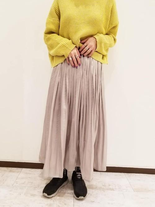 シャイニーケシプリーツロングスカート
