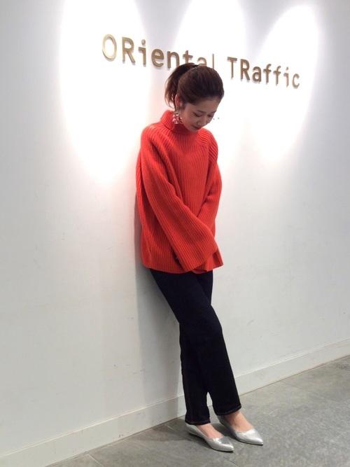 [ORiental TRaffic] 春夏新作★ラインウエッジパンプス★9108