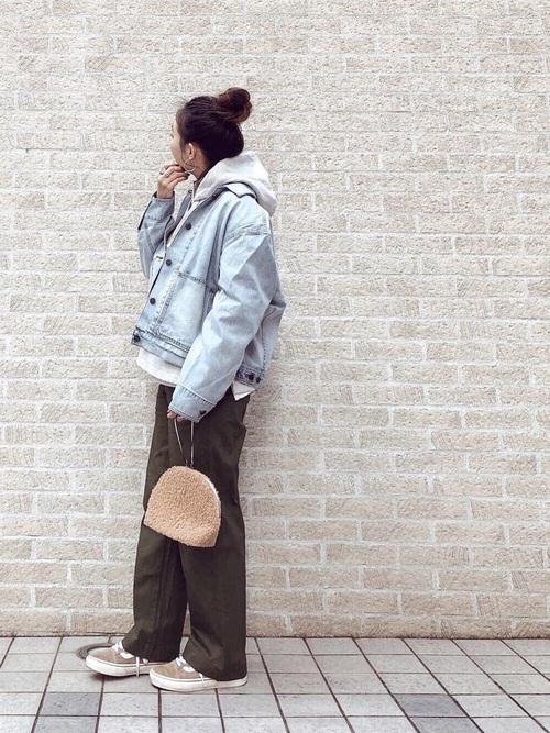 【ユニクロ】デニムジャケット×大人女子5
