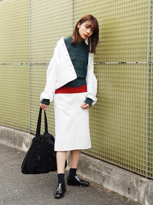 【ユニクロ】デニムジャケット×大人女子15
