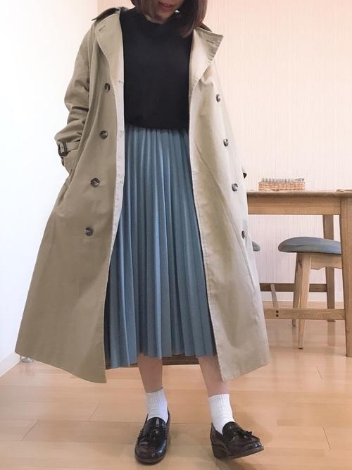 ローファーコーデ スカート3