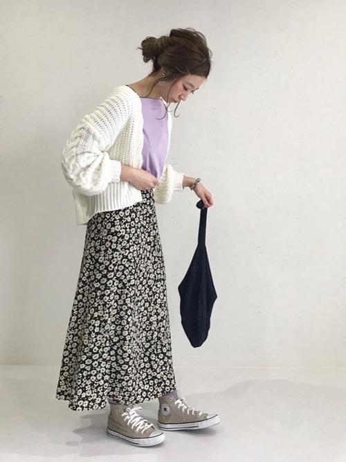 ハナクルミボタンAラインスカート2