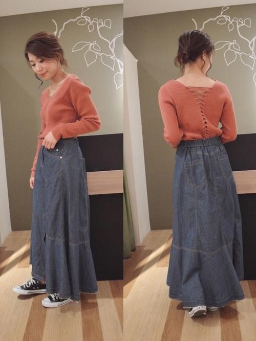 ・Kデニムアシメトリ-スカート