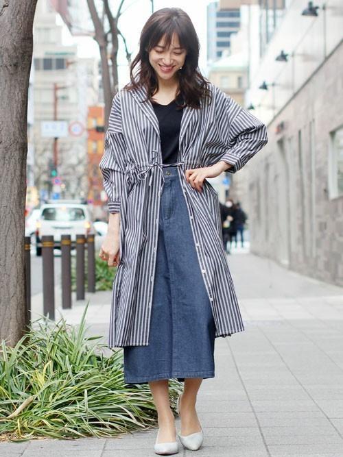 [fellini] デニムストレートスカート