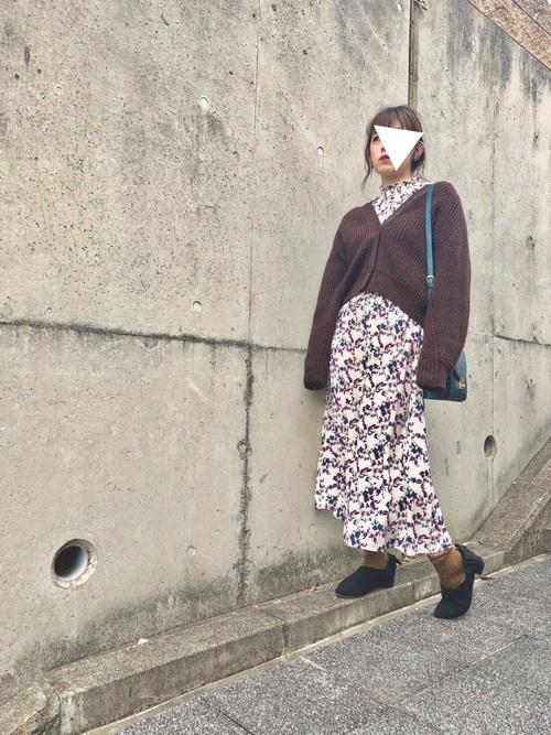 GU 花柄ワンピース4
