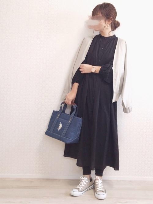 シンプルファッション【ワンピーススタイル】