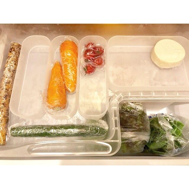 冷蔵庫の収納術 野菜収納 無印良品 メイクボックス