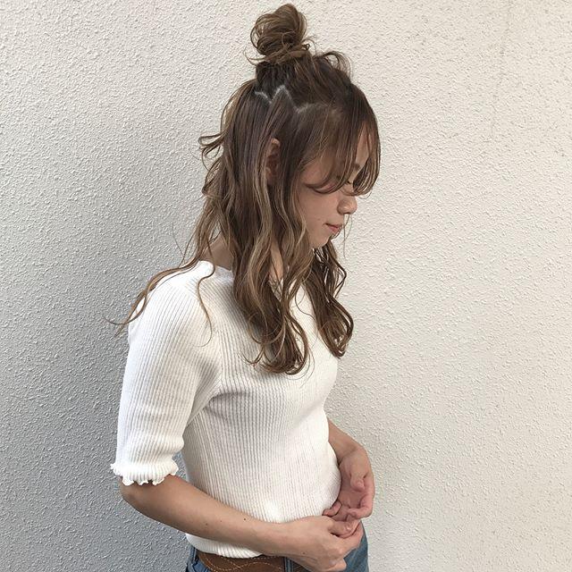 ハーフアップお団子3