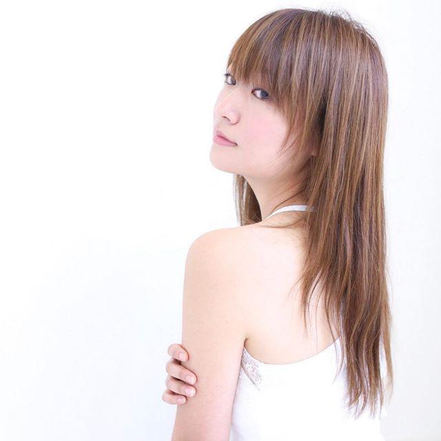 ロングヘア 前髪 作り方4